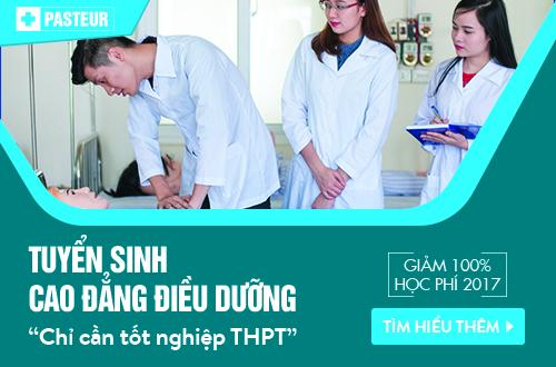 Trường Cao đẳng Y Dược Pasteur thông báo tuyển sinh Cao đẳng Điều dưỡng chỉ cần tốt nghiệp THPT