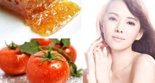 Mặt nạ mật ong và cà chua